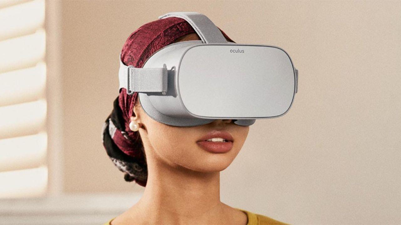 L'Oculus Go (photo) se débarrasse d'un des inconvénients majeurs du Rift, le casque commercialisé par le réseau social depuis deux ans : la nécessité d'être raccordé à un ordinateur.