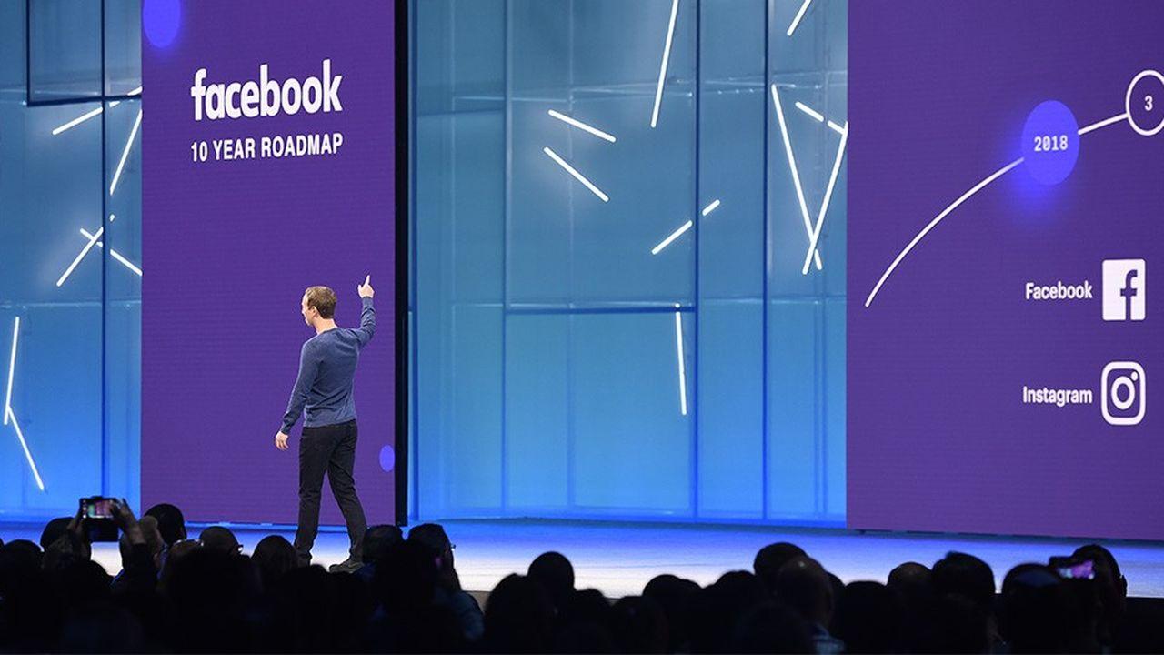 Le patron de Facebook, Mark Zuckerberg, au sommet F8 le 1ermai.