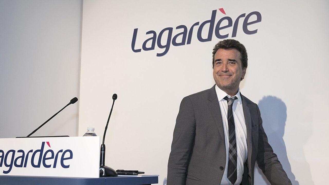 Arnaud Lagardere a réuni les actionnaires du groupe au Carrousel du Louvre à Paris ce jeudi.