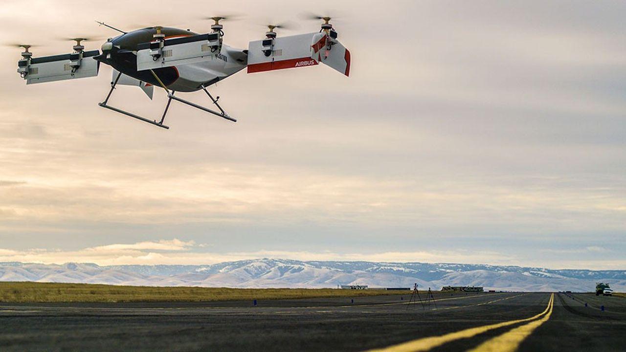 Vahana Taxi est un véhicule autonome développé par Airbus. il a effectué son premier vol dans l'Oregon (USA) en février 2018.