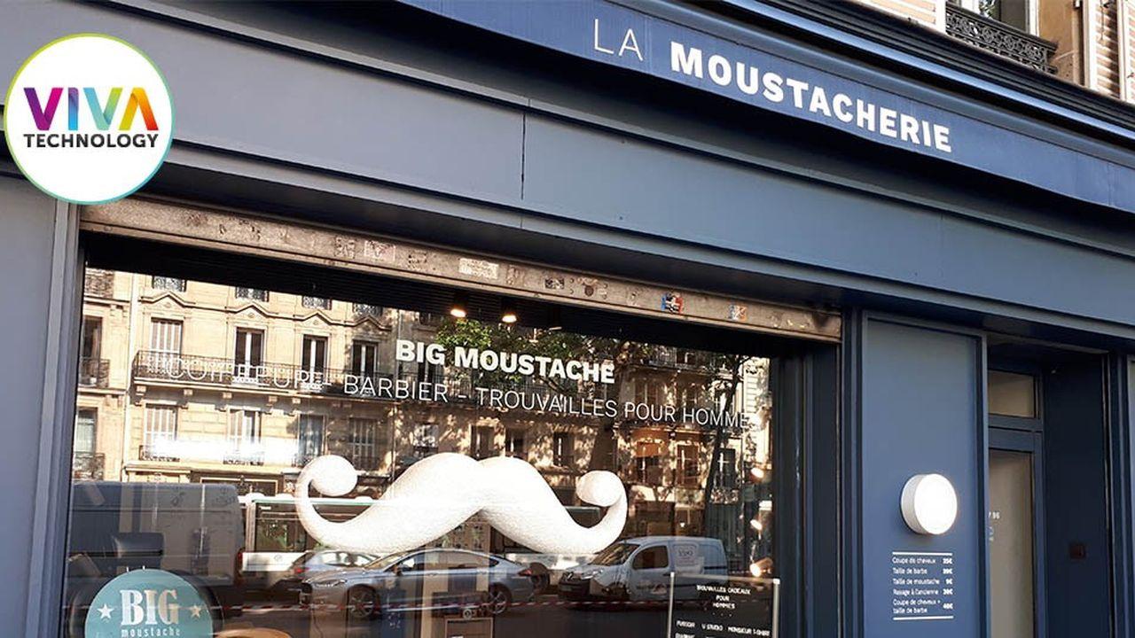 Big Moustache, une des trois start-up que Sia Partners accompagne à travers son fonds d'investissement Studio, recréera un «barber shop» sur le stand de la société de conseil.