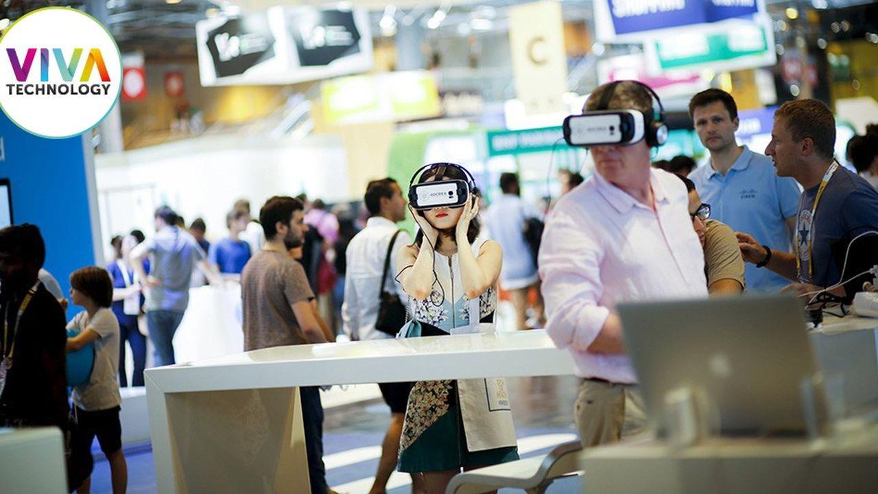 Des expériences de réalité virtuelle au salon Viva Technology.