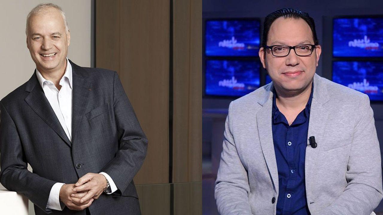 Bruno Mettling, président d'Orange Afrique (à gauche), et Wajdi Ben Rejeb, entrepreneur tunisien.