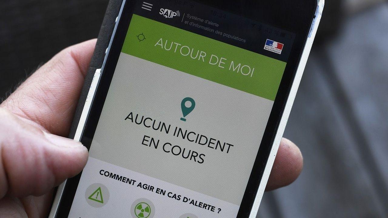 L'application SAIP, lancée par le gouvernement avant l'Euro 2016.