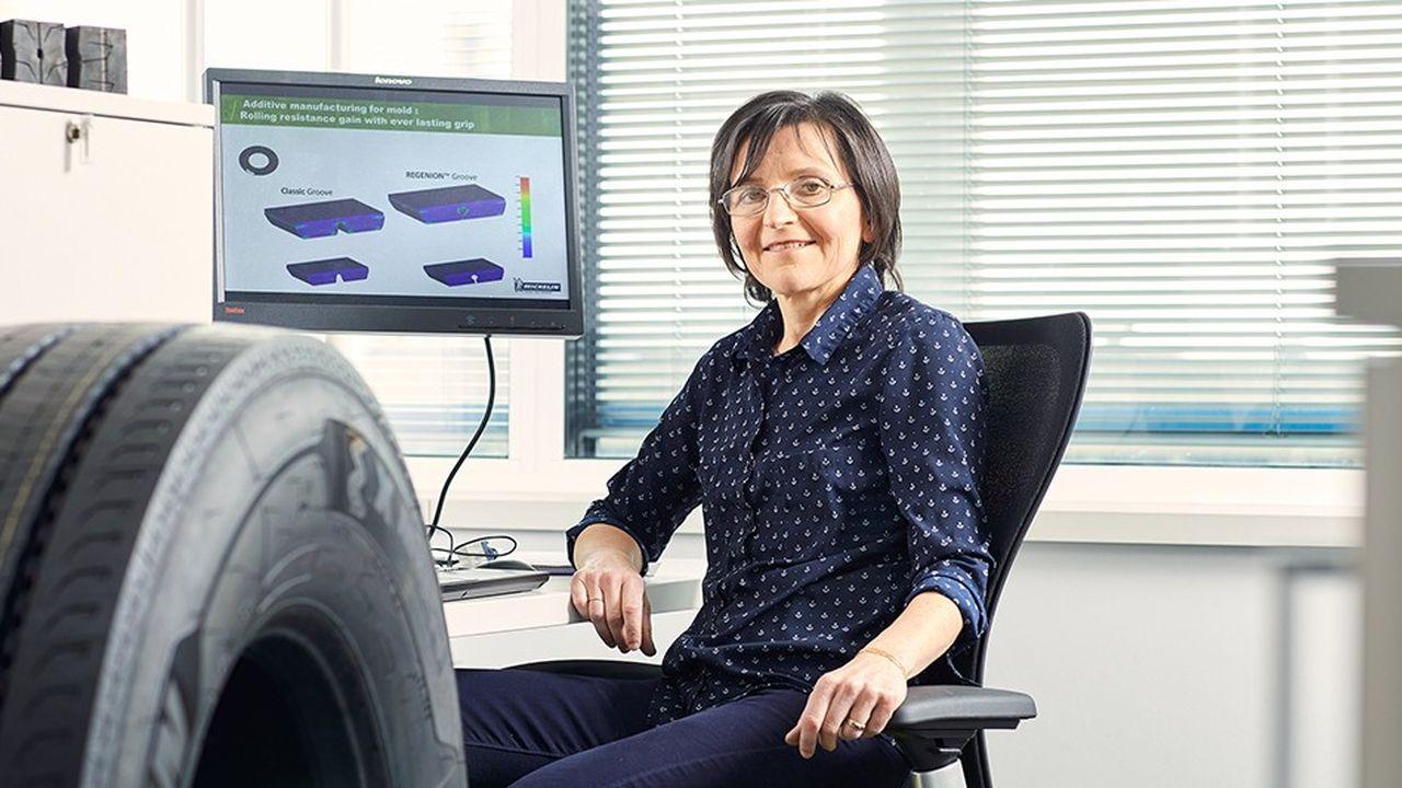 Agnès Poulbot, ingénieur chez Michelin et co-inventeuse de la technologie Regenion avec Jacques Barraud, est finaliste du Prix de l'inventeur européen 2018.