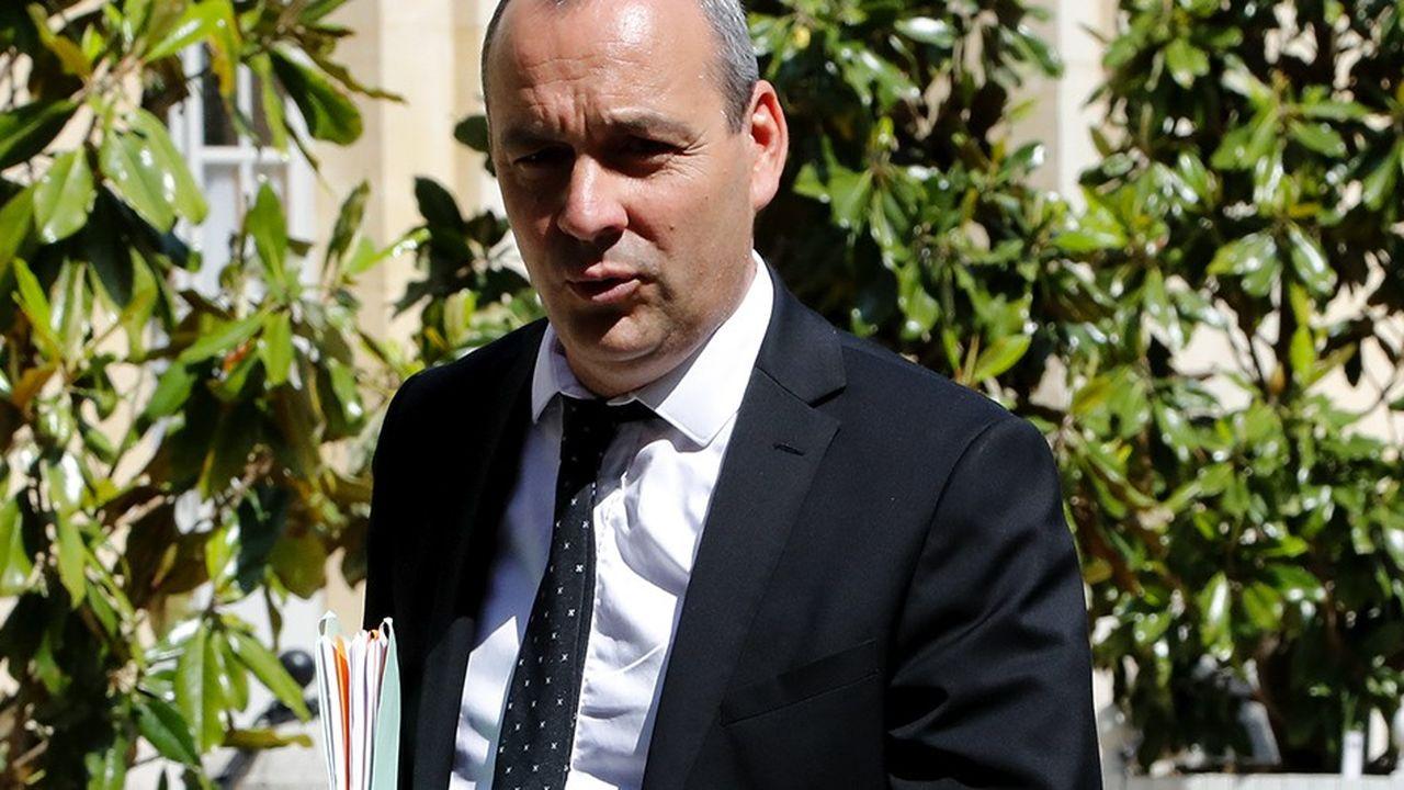 Le secrétaire général de la CFDT, Laurent Berger, qui vient d'être confirmé à sa tête lors du 49e congrès de la centrale./AFP PHOTO/FRANCOIS GUILLOT