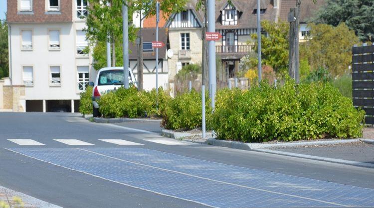 Une portion de route solaire près de Toulouse
