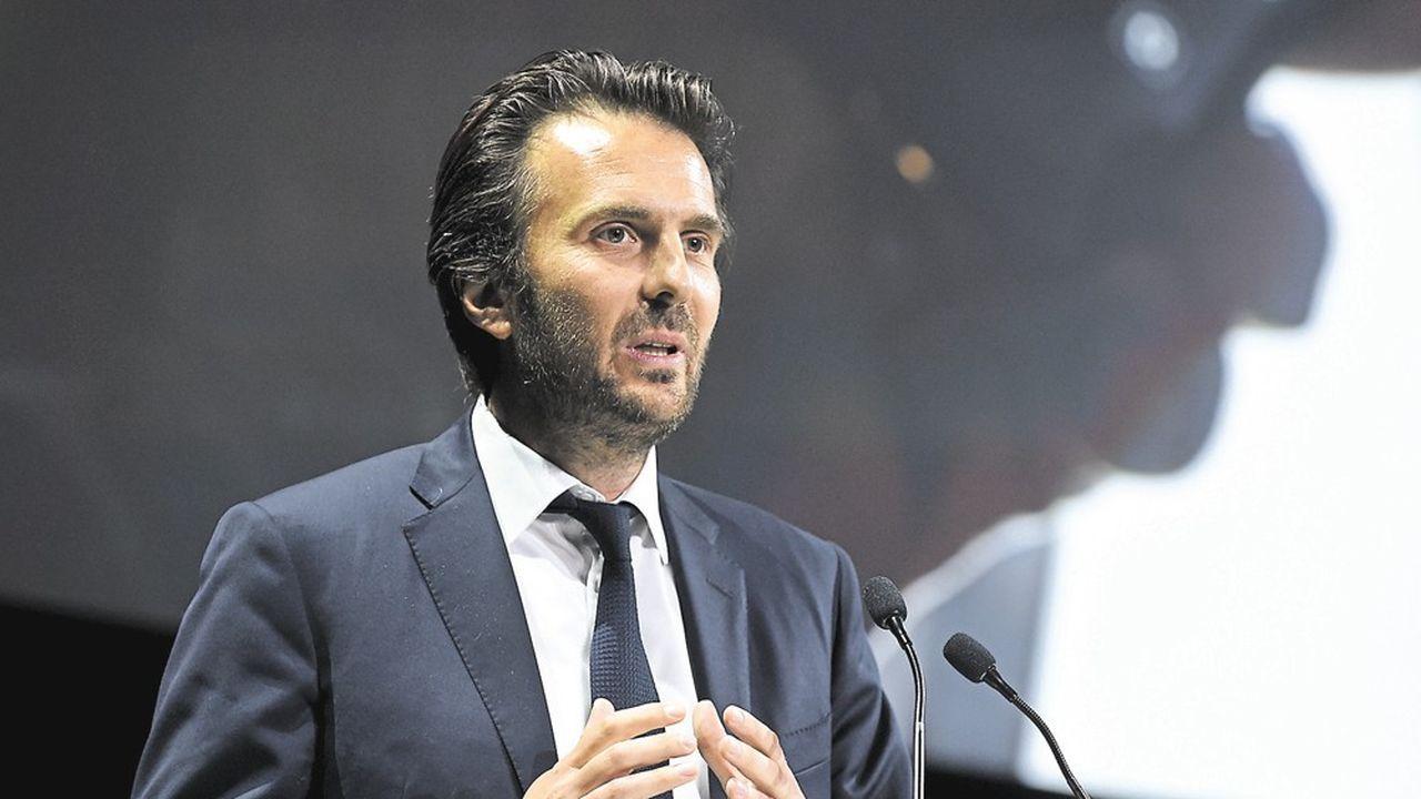 Président d'Havas, Yannick Bolloré annonce le retour à la verticalité via le lancement de cinq réseaux./AFP PHOTO/ERIC PIERMONT