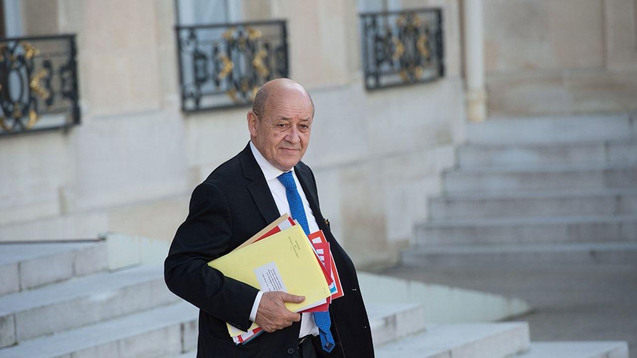 Le ministre des Affaires étrangères, Jean-Yves LeDrian
