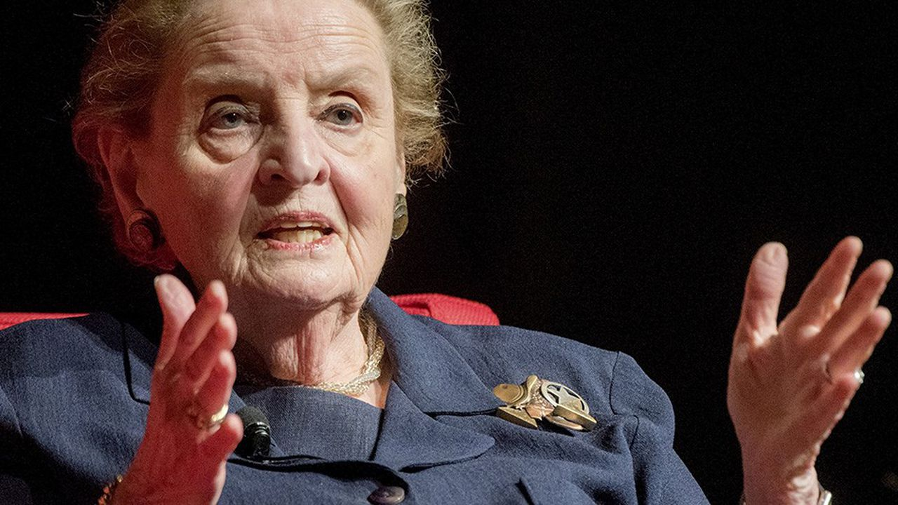L'ancienne chef de la diplomatie de Bill Clinton et ambassadrice des Etats-Unis à l'ONU, Madeleine Albright.