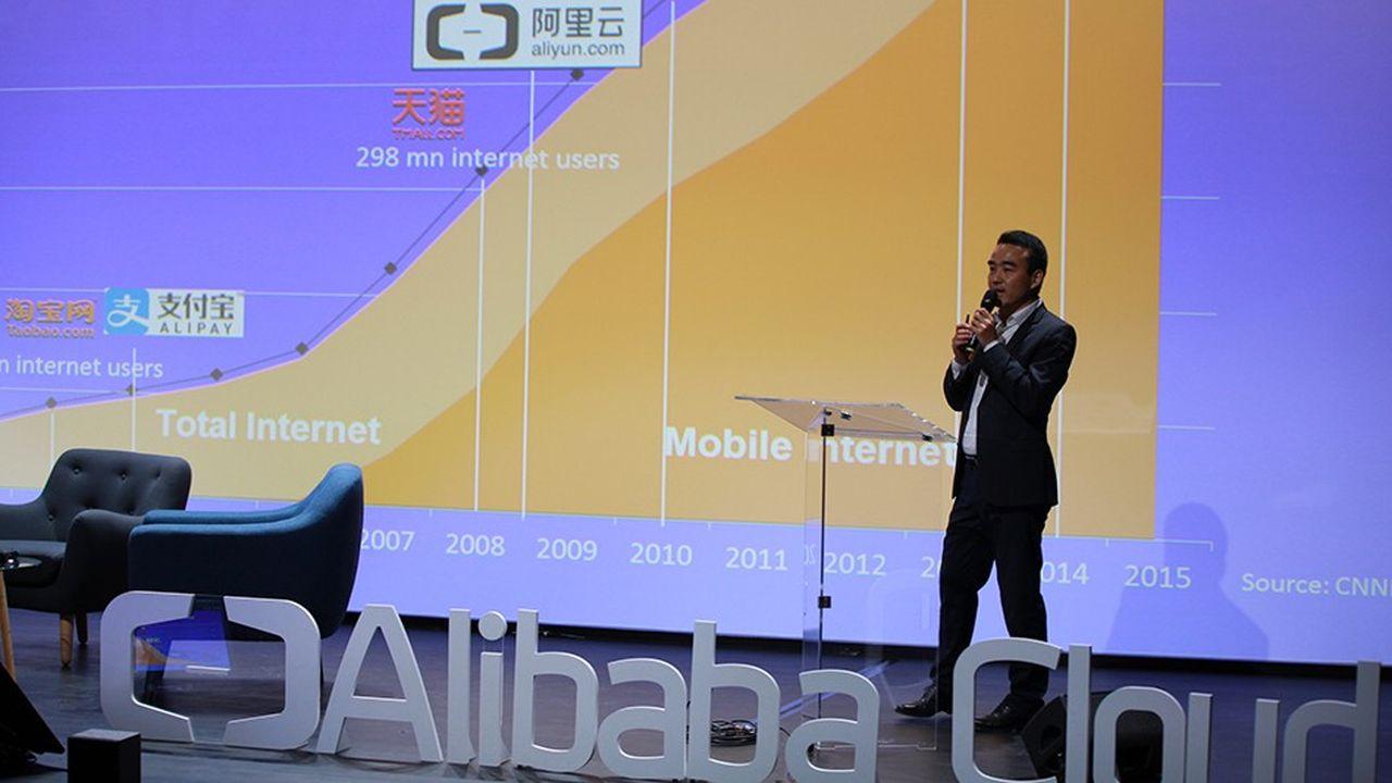 Né en2009, Alibaba Cloud est présent dans 18zones géographiques à travers 45data centers. La filiale d'Alibaba a réalisé en2017 plus de 2milliards de dollars de chiffre d'affaires, un chiffre en hausse de 101%.