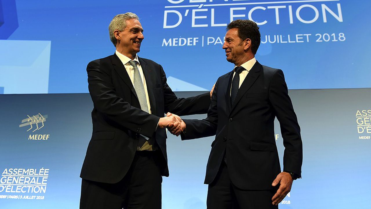 Geoffroy Roux de Bezieux l'a emporté ce mardi matin par 284 voix contre 224 pour Alexandre Saubot