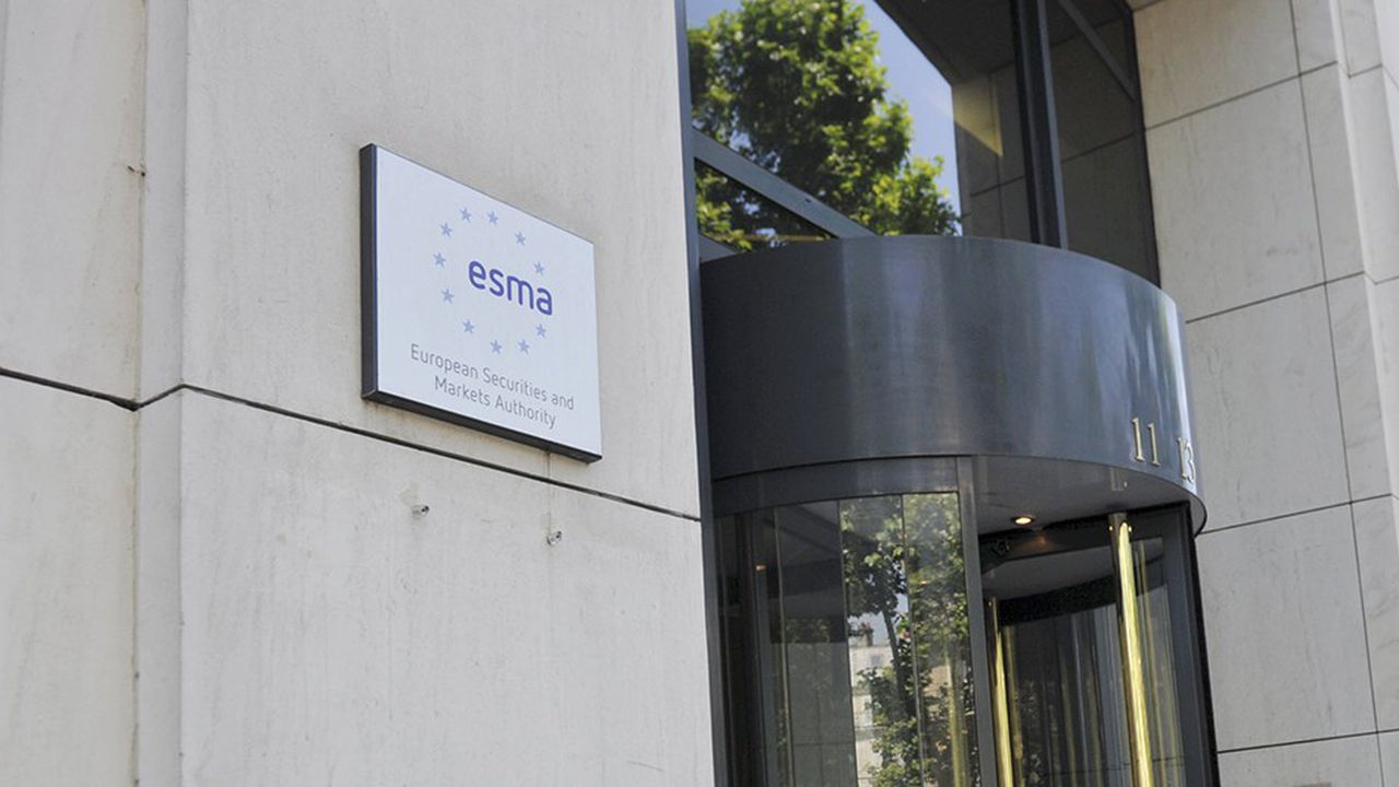 Le siège de l'ESMA, Autorité européenne des marchés financiers, à Paris