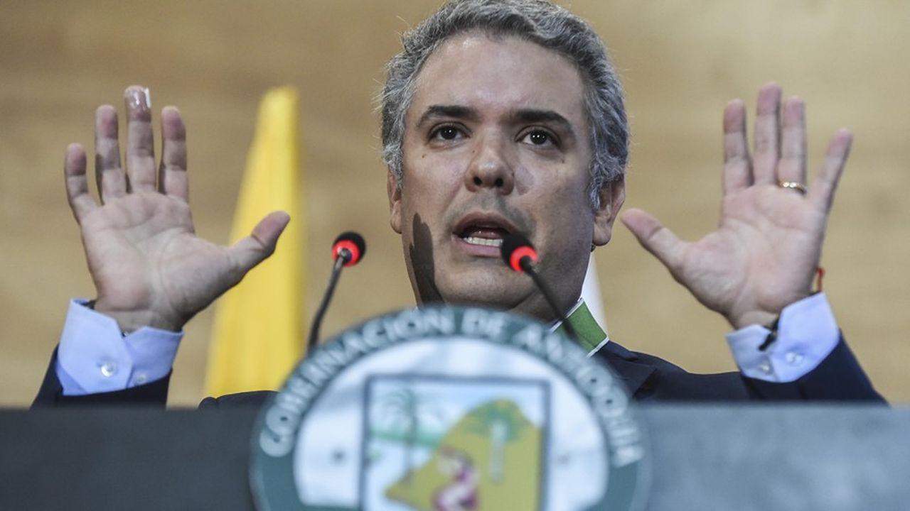 Ivan Duque, le nouveau président de la Colombie s'est fait élire en promettant d'adopter une ligne dure contre les accords de paix