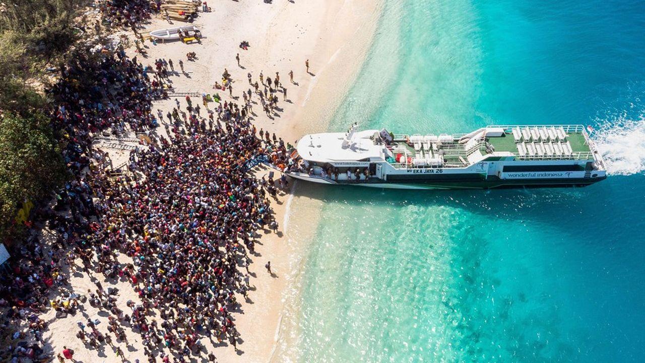 Après le premier tremblement de terre d'une magnitude de 6,9, les touristes ont fui en masse les îles de Lombok et de Gili (photo).