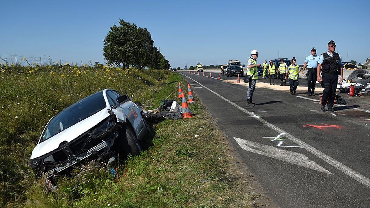 En juillet, la France a enregistré son troisième mois consécutif de baisse du nombre de tués, avec un recul de 5,5%, selon le bilan fourni vendredi par la Direction de la Sécurité routière.