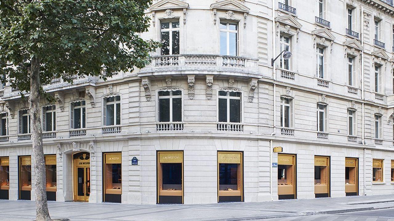 La nouvelle boutique J.M. Weston, située au 55, avenue des Champs-Elysées.