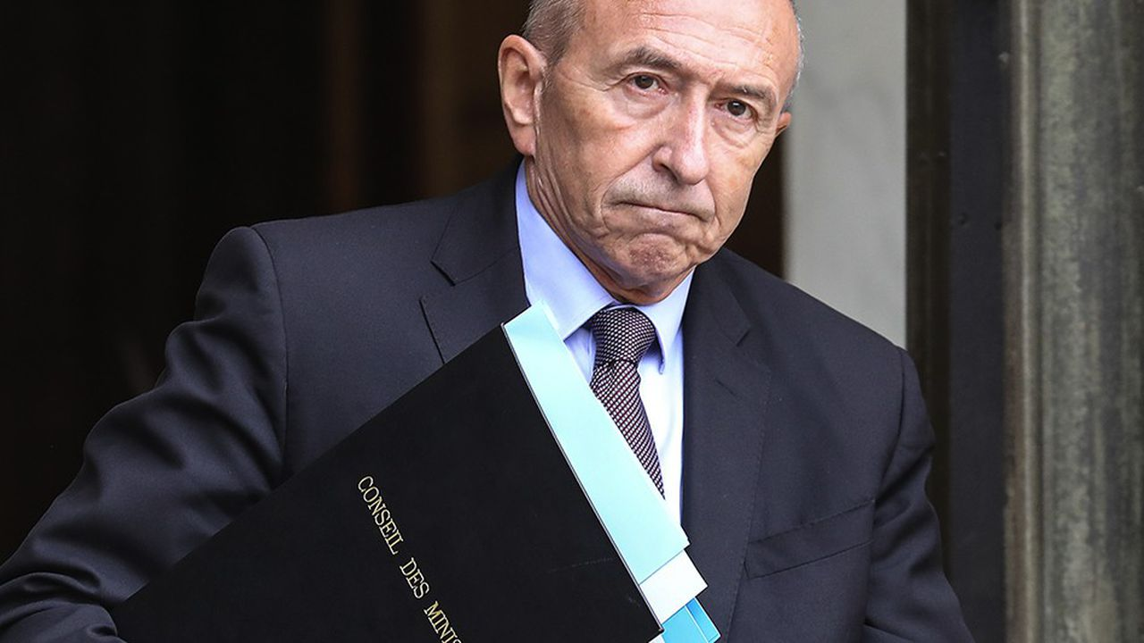 Dans l'affaire Benalla, Gérard Collomb a été en première ligne / AFP PHOTO / LUDOVIC MARIN