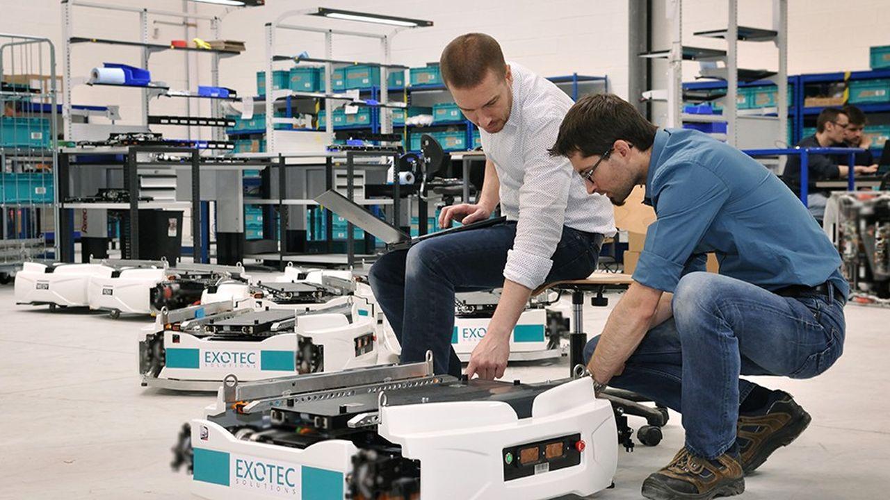 Exotec est unspécialiste de la robotique appliquée à la logistique des acteurs de l'e-commerce.