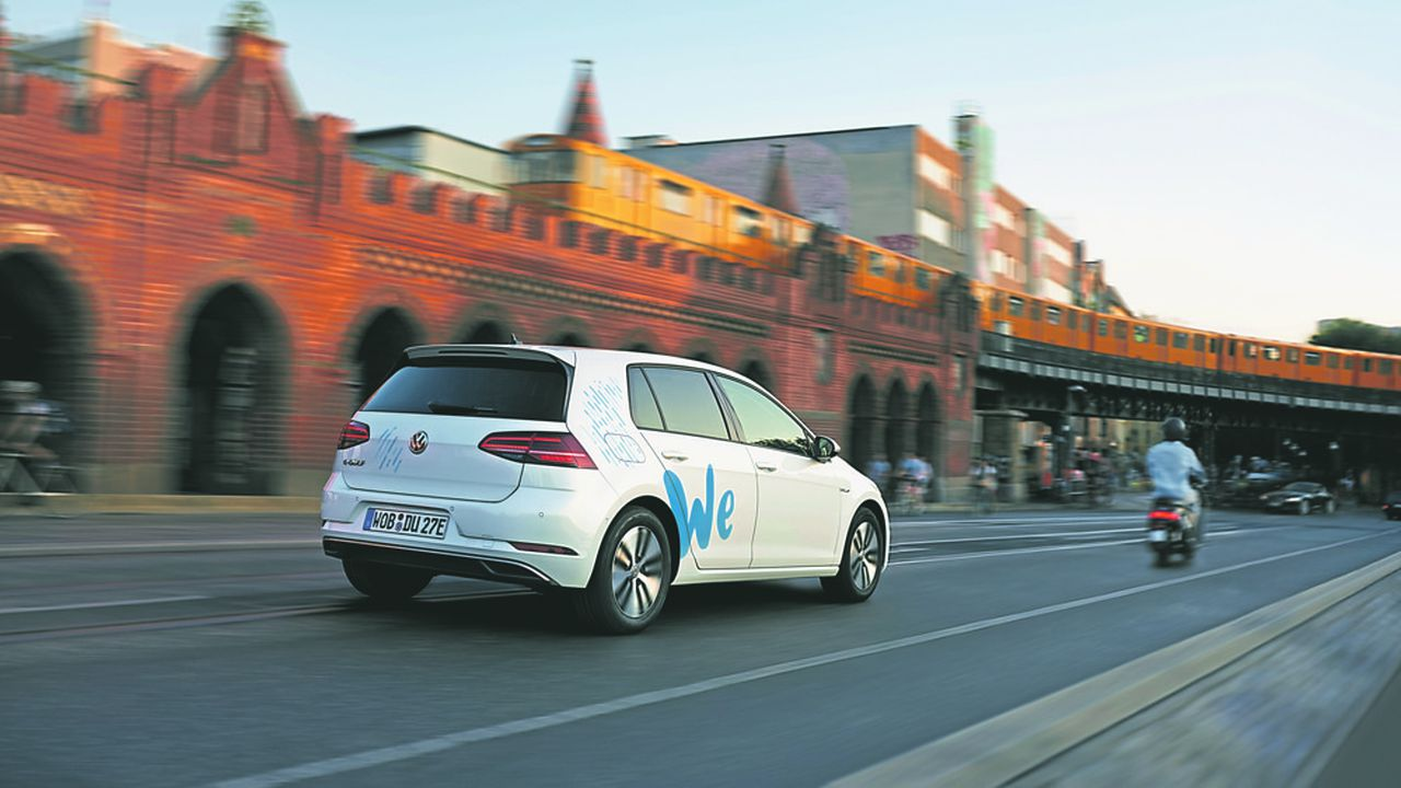 Volkswagen lancera au deuxième trimestre2019 à Berlin son offre d'auto-partage 100% électrique baptisée «We Share».