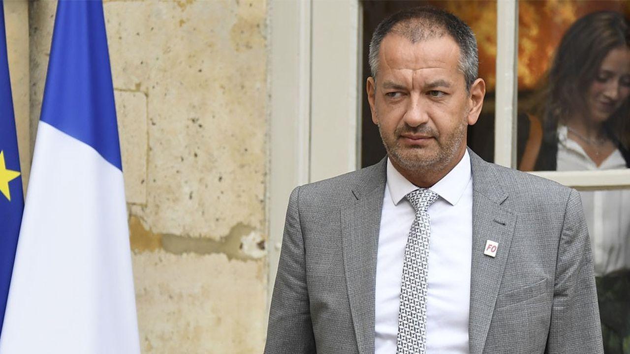 Pascal Pavageau, le secrétaire général de Force ouvrière, s'est défini comme un «irréductible Gaulois» à sa sortie de Matignon jeudi.