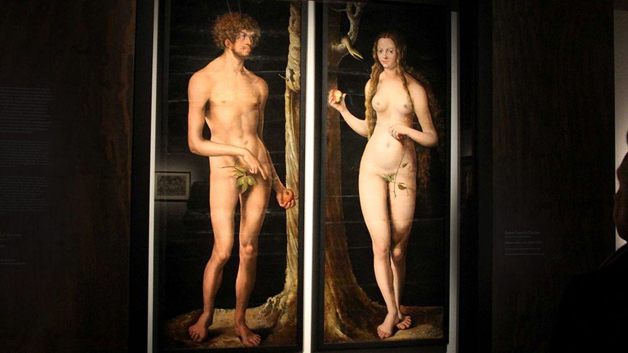 Adam et Eve peints par Lucas Cranach l'Ancien (XVIe siècle)