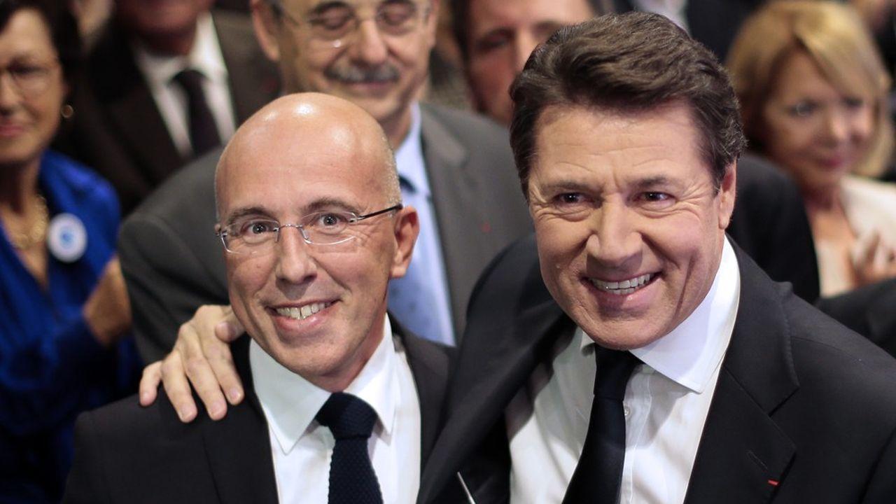 Eric Ciotti et Christian Estrosi, à Nice, en novembre2013.