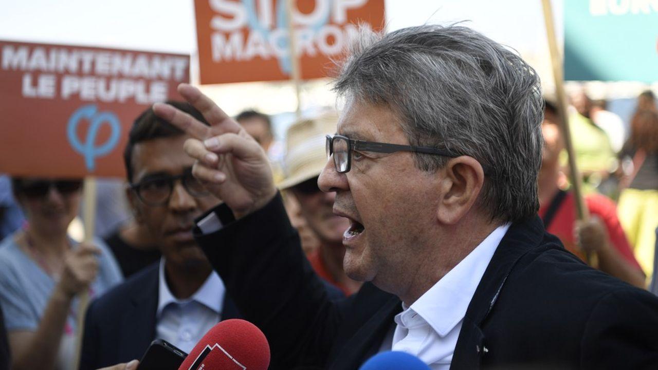 Jean-Luc Mélenchon, le 7 septembre, à Marseille