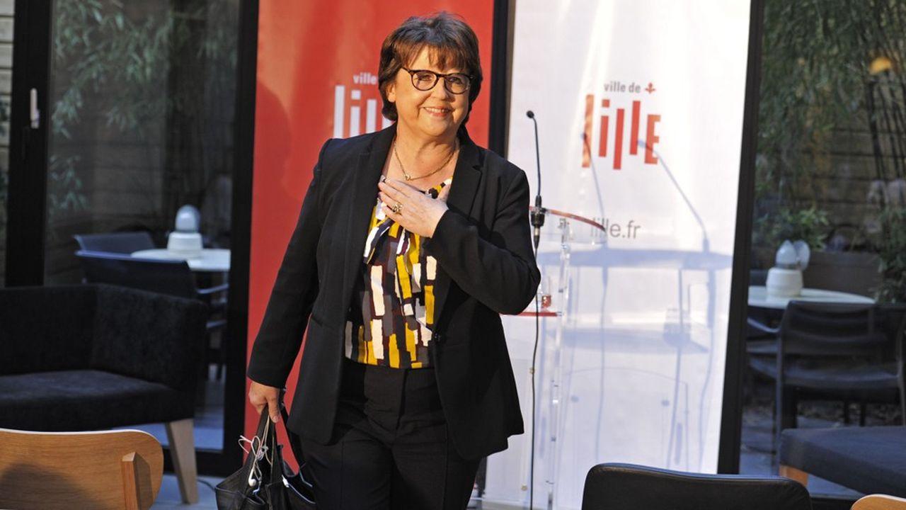 Martine Aubry lors de ses voeux à la la presse, le 18 janvier 2018.