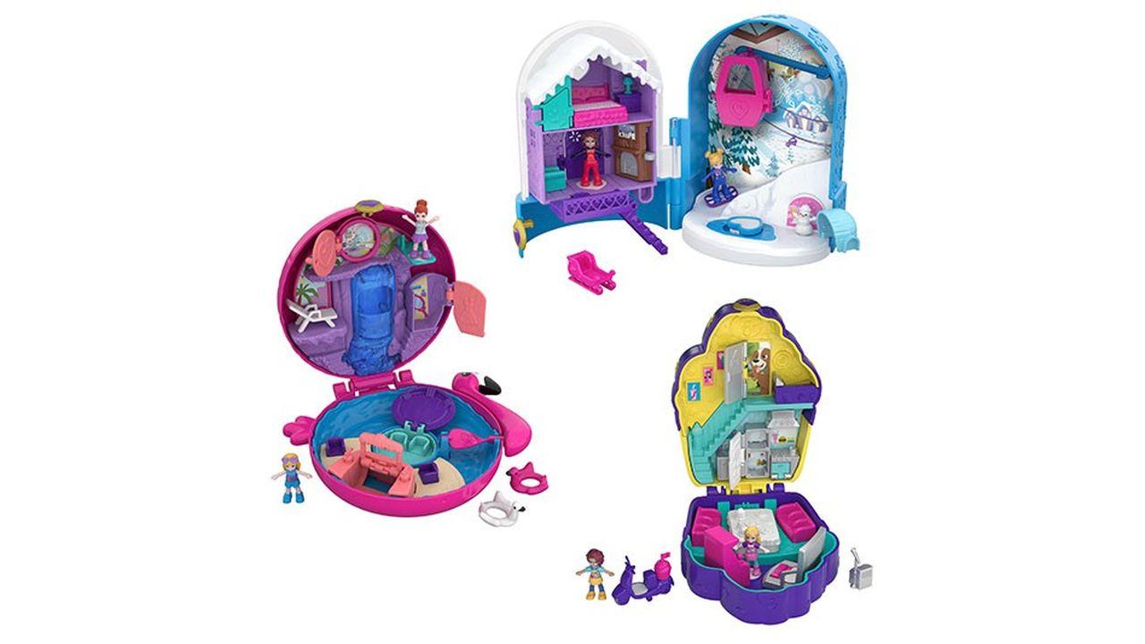 Dans la version 2018, les couleurs des Polly Pocket se veulent plus éclatantes et les visages des poupées se font plus fins