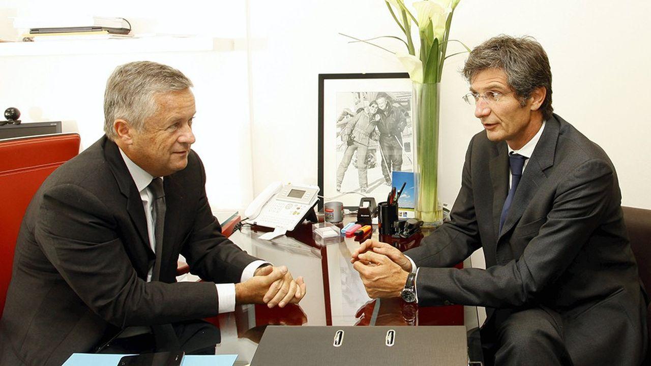Jean-Marie Messier et Erik Maris, les fondateurs de la banque d'affaires Messier Maris et Associés, sont approchés par l'Italien Mediobanca.
