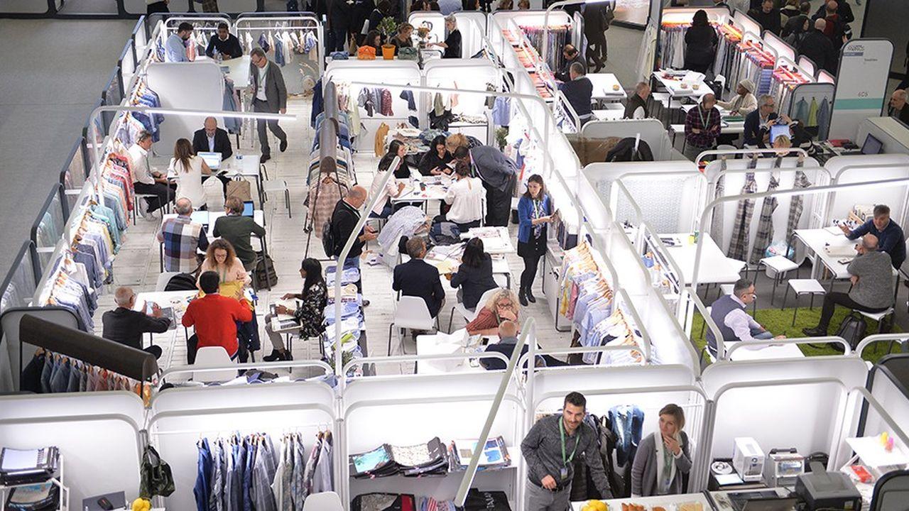Salon Première vision consacré à l'amont de la mode, de la vente du fil à celle des tissus.