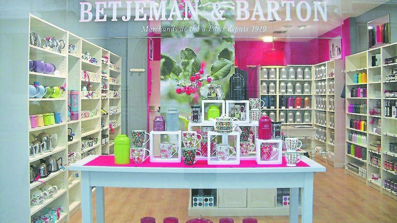 La Boutique de Betjeman & Barton à Rouen. La maison de thé en possède une vingtaine dont 12 à l'étranger