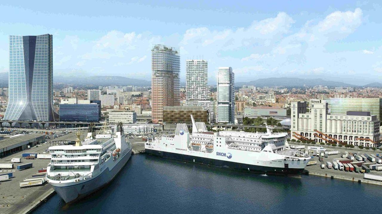 La Marseillaise a été dessinée par Jean Nouvel pour le promoteur Constructa qui l'inaugure ce mardi. Il aura fallu 16 ans pour faire émerger ce gratte-ciel de 140 mètres de haut.