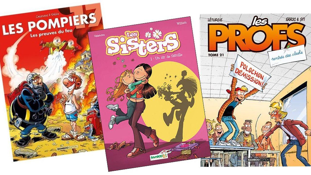 Bamboo a fait ses premiers pas dans les dessins animés pour la télévision avec l'adaptation des «Sisters» pour M6.
