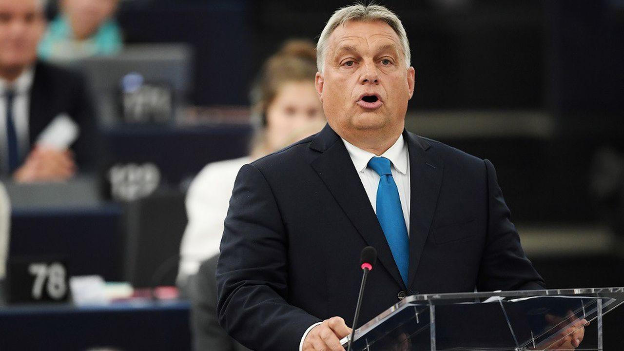 Le Premier ministre hongrois Viktor Orban devant les députés européens, le 11septembre 2018