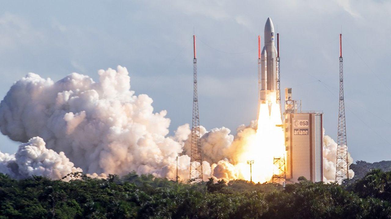 A Kourou, les décollages d'Ariane 5 sont toujours spectaculaires: ici le tir de juillet dernier pour l'envoi en orbite dequatre satellites Galileo.