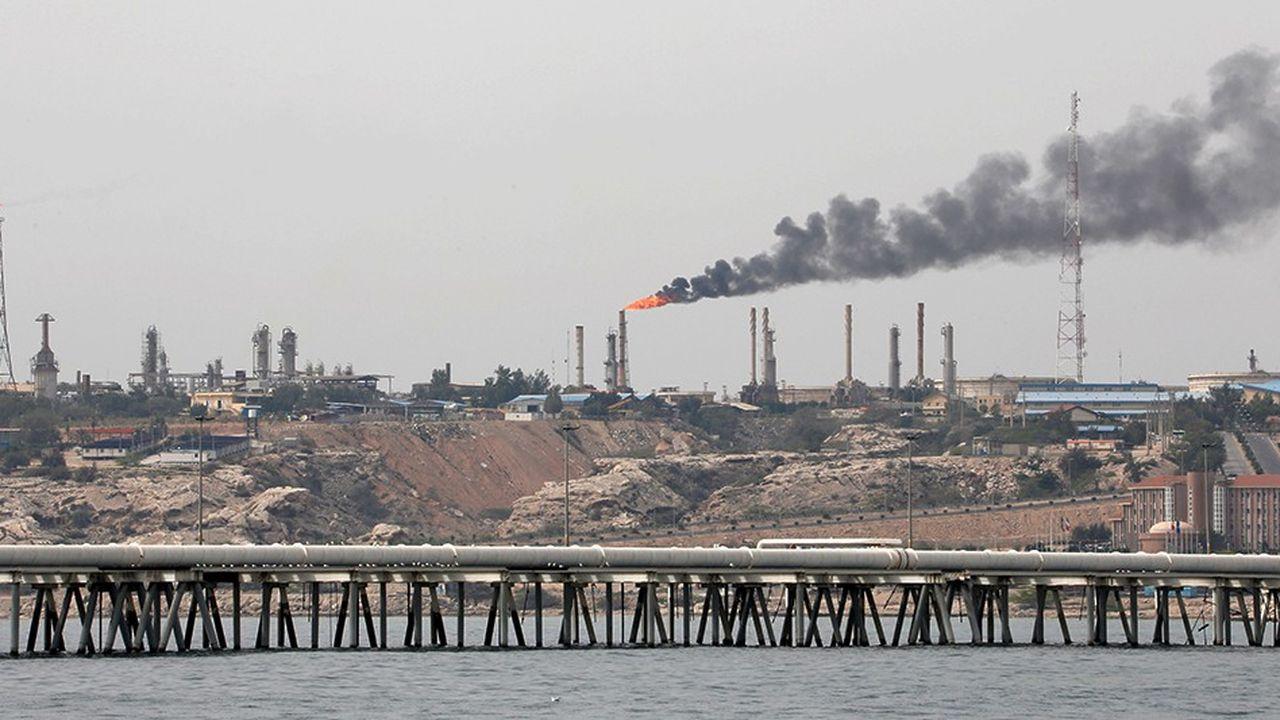 Une raffinerie sur l'île de Kharg, en Iran.