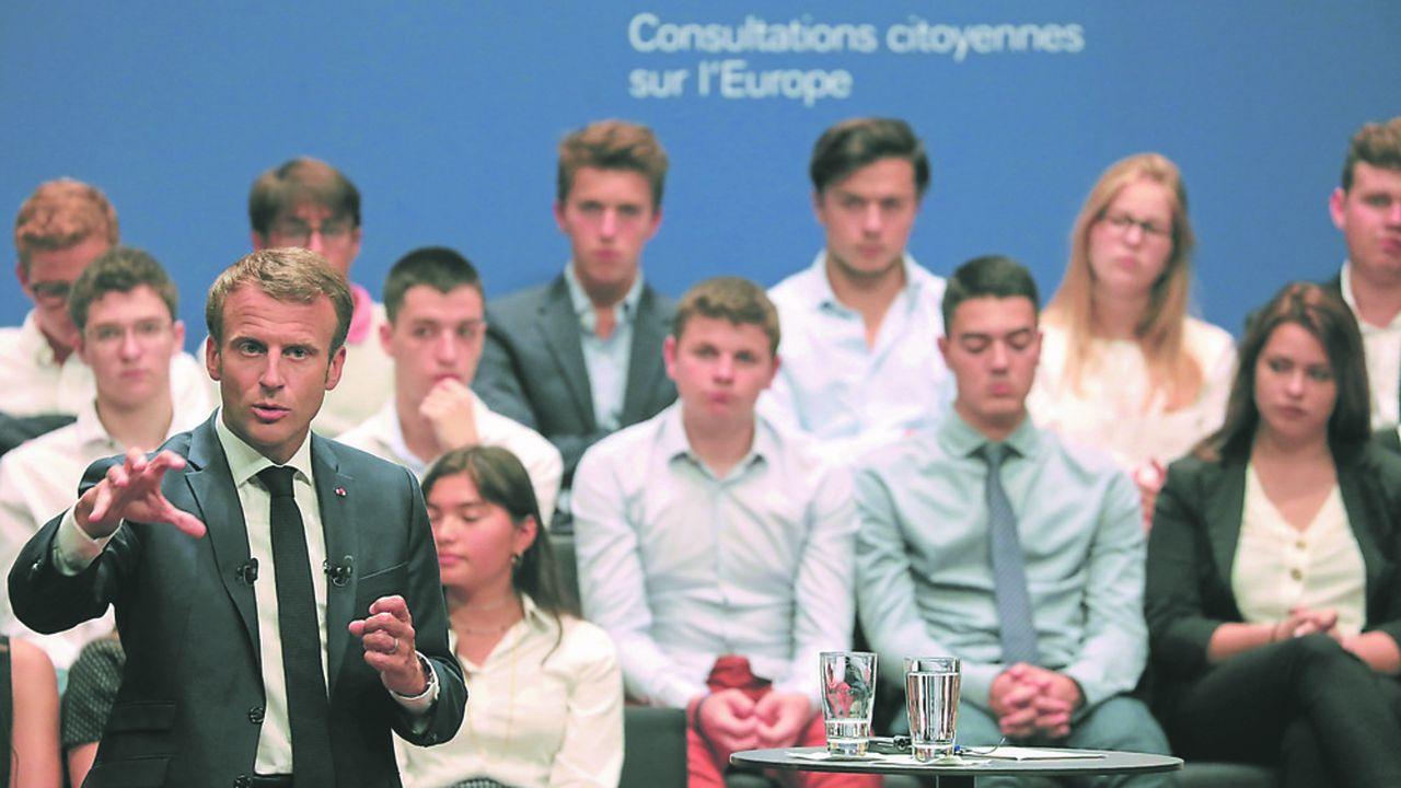 Le président français Emmanuel Macron a assisté à une consultation citoyenne au Luxembourg le 6septembre dernier à l'occasion d'une visite officielle.