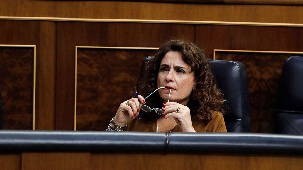 La ministre des Finances, Maria Jesus Montero, va devoir dessiner une loi de finances 2019 en s'appuyant sur le cadre laissé par le gouvernement précédent.