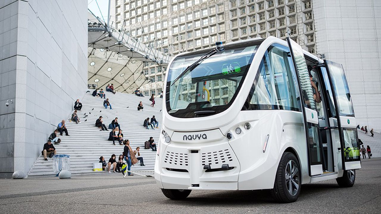 La start-up lyonnaise Navya a déjà commercialisé 89 exemplaires de sa navette autonome dans 17 pays.