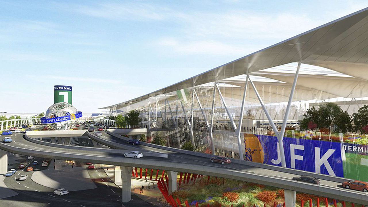 Selon les plans dévoilés par le gouverneur de New York, JFK devrait passer de six terminaux à quatre, reliés par un hub central.