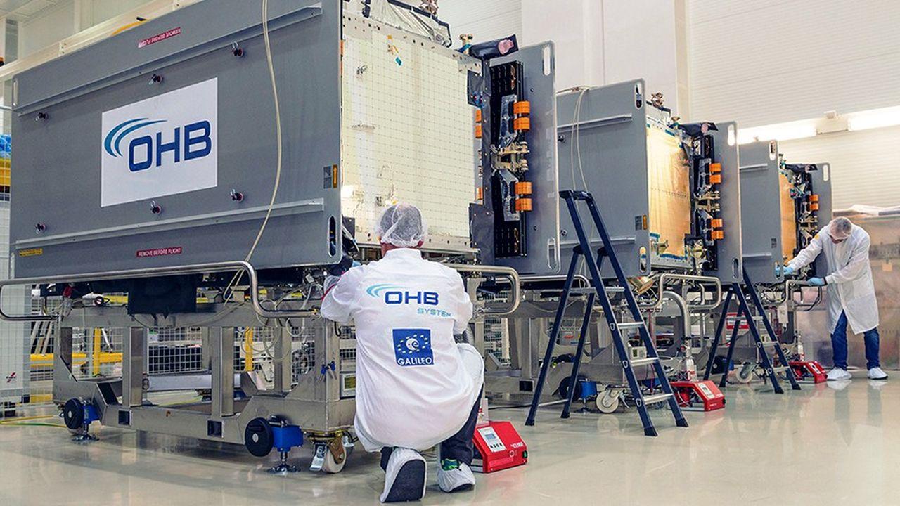 OHB a remporté trois appels d'offres successifs pour réaliser 34 satellites de navigation Galileo contre ses rivaux Airbus et Thales.