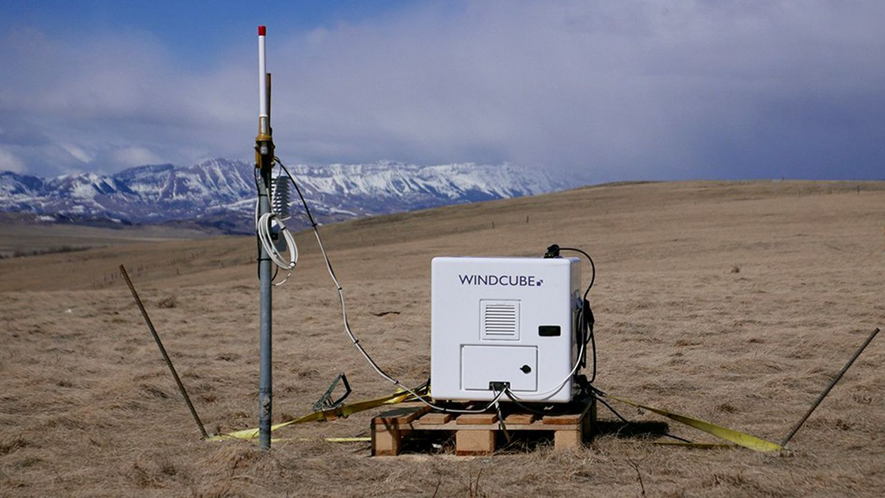 En mesurant pendant plusieurs mois la vitesse et la direction du vent, comme ici au Canada, le lidar permet d'évaluer la qualité d'un gisement éolien.
