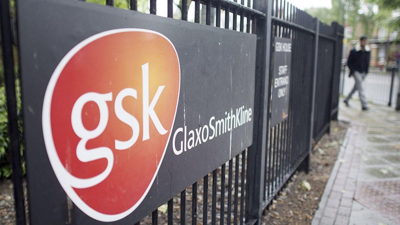 Les grilles de GSK à Londres.