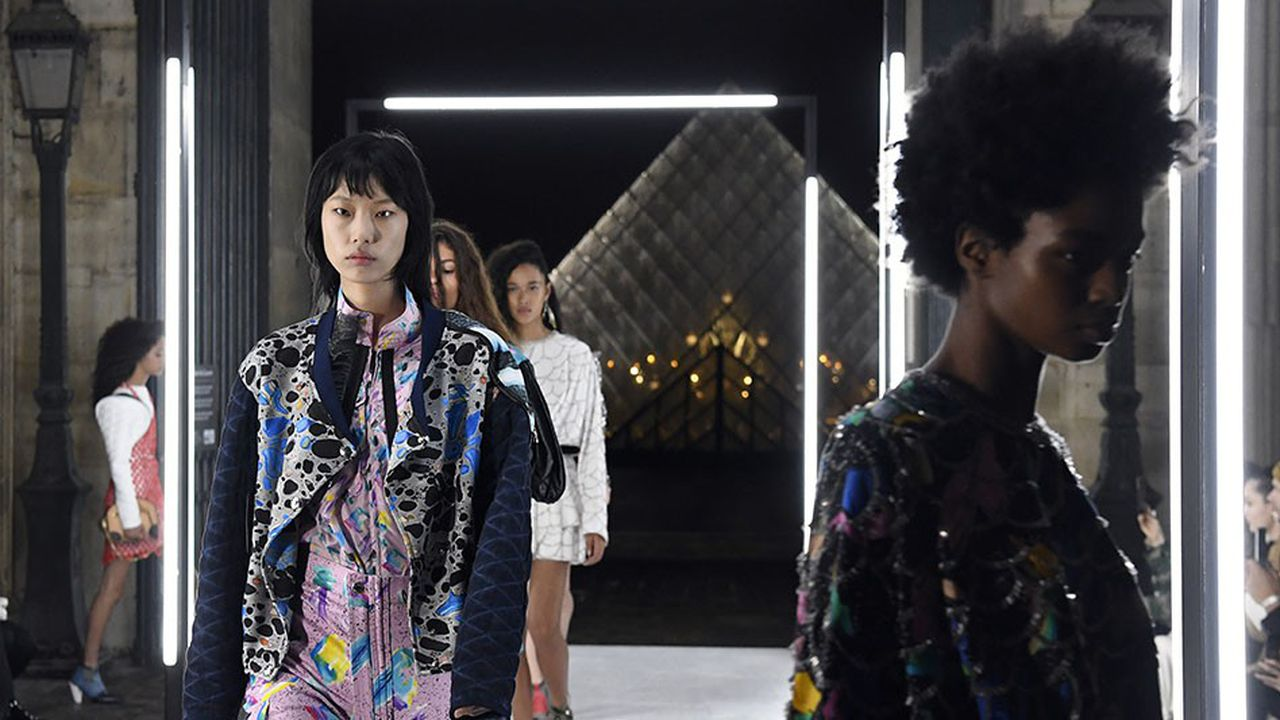 Défilé Louis Vuitton présenté à Paris, début octobre.