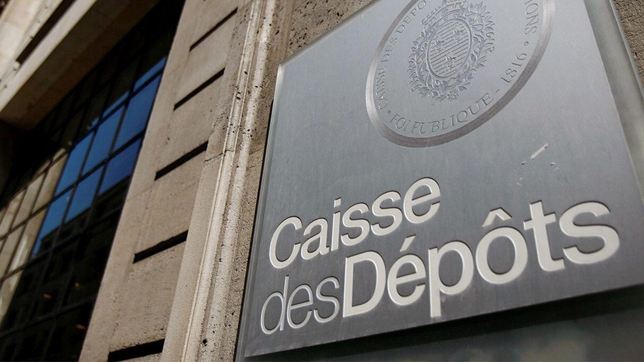 Siege de la Caisse des Depots, CDC, plaque, logo