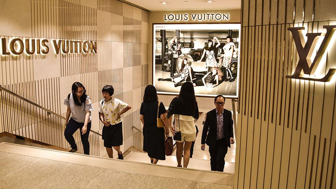Un magasin Louis Vuitton à Hong Kong.