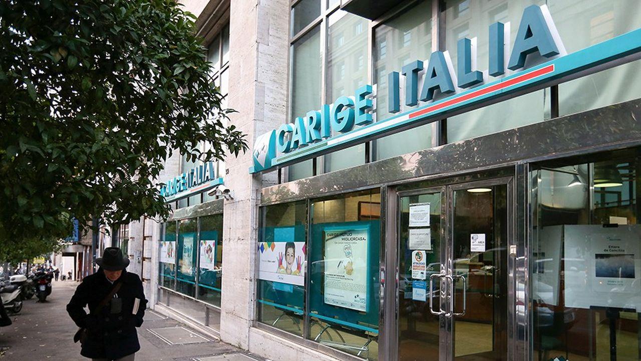 Une agence de Banca Carige à Rome