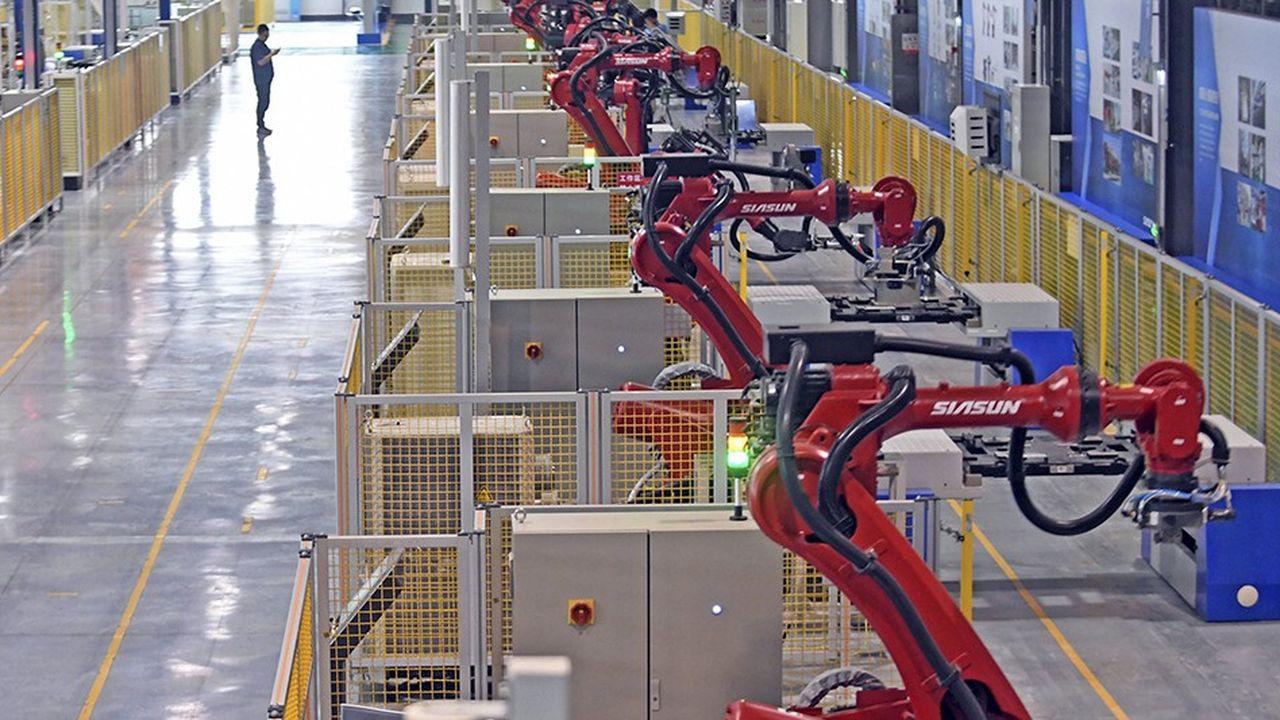 Ligne de production du chinois Siasun à Shenyang, dans la province de Liaoning.